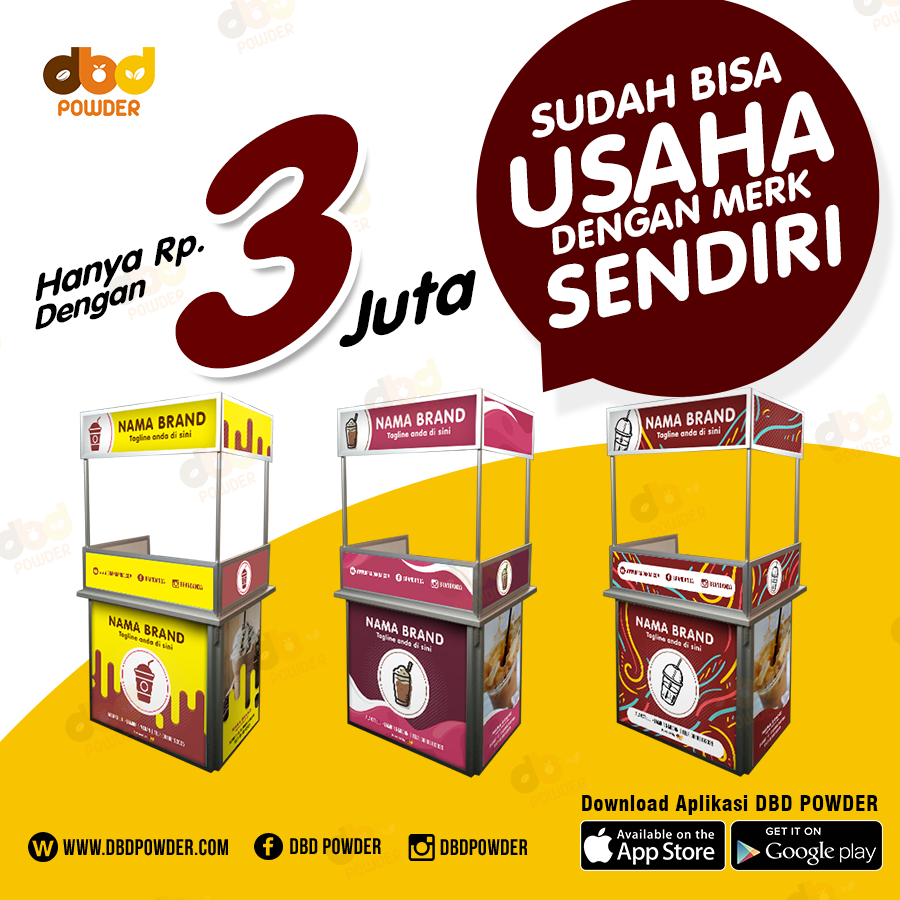 Paket Usaha Minuman Booth – Jumbo (Exclude Mesin Sealer)